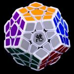 DaYan Megaminx Dodecahedron Magic Cube with Corner Ridges White