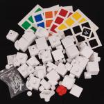 MHZ 3x3x3 Gas-Assisted Magic Cube DIY Kit White