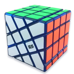 MoYu AoSu Crazy 4x4x4 Windmill Speed Cube Transparent Blue