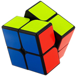 YongJun GuanPo 2x2x2 Magic Cube 50mm Black
