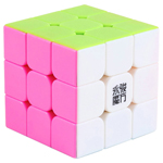 YJ YuLong 3x3x3 Stickerless Magic Cube Pink Version