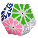 QJ Pyraminx Crystal Megaminx Stickered Magic Cube White