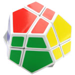 QJ 2x2 Megaminx Dodecahedron Magic Cube White