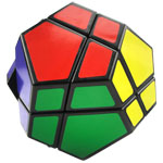 QJ 2x2 Megaminx Dodecahedron Magic Cube Black