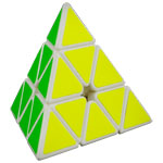 MoYu Magnetic Positioning Pyraminx Speed Cube White