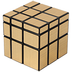 3x3x3 Golden Mirror Cube Magic Cube Black