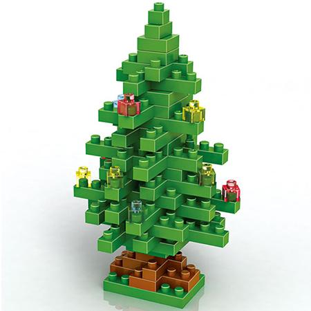 Mini Christmas Tree 130Pcs Blocks Building Set Puzzles Desktop Decoration