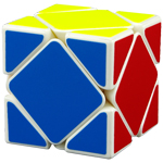 MoYu Magnetic Positioning Skewb Speed Cube White