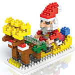 Mini Christmas Gift Santa with Reindeer in Sledge 180Pcs Blocks Building Set Puzzles Desktop Decoration