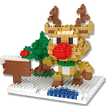 Mini Blocks Christmas Reindeer 306Pcs Blocks Building Set Puzzles Desktop Decoration