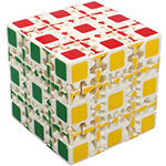 Gear 5x5x5 Magic Cube Puzzle White