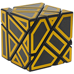 FangCun 3x3x3 Ghost Cube Hollow Golden Stickered Black