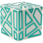 FangCun 3x3x3 Ghost Cube Hollow Green Stickered White