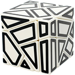 FangCun 3x3x3 Ghost Cube Hollow Black Stickered White