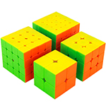 Cubing Classroom 4 in 1 2x2 3x3 4x4 5x5 Stickerless Cubes Pa...