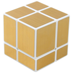 ShengShou 2x2x2 Mirror Block Magic Cube Golden White