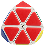 QJ Tetraminx Corner Cut Pyraminx Magic Cube White