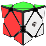 QiYi X-Man Magnetic Wingy Concave Skewb Speed Cube Black