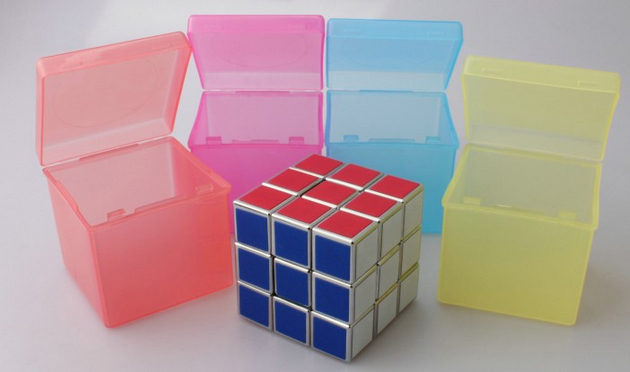 Candy Color Transparent PP Protection Box for 57mm Magic Cube
